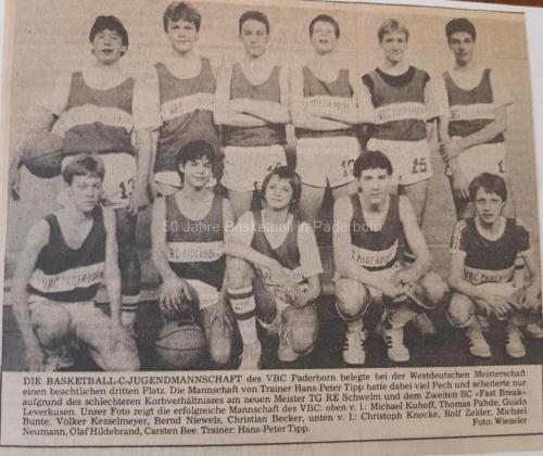 1984: C-Jugend 3. Platz WBV-Endrunde