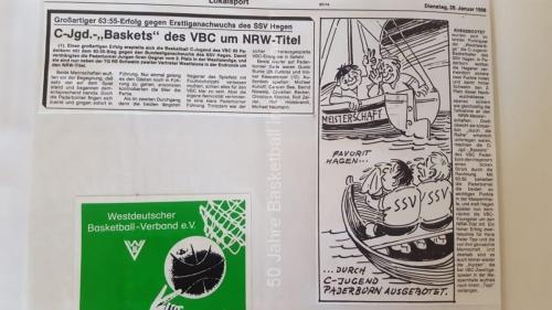1984: C-Jugend des VBC 69 Paderborn bootet SSV Hagen aus